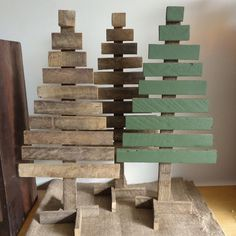 Christmas tree rustic reclaimed tobacco lath wood eco friendly by masonjardecor
