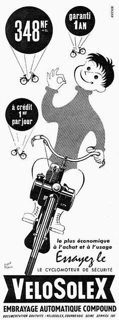 Publicité Solex 1960 - Velosolex - illustration de René Ravo -