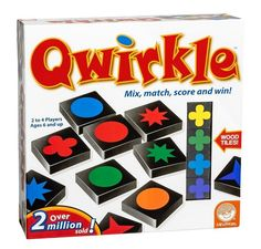 Qwirkle Board Game Wooden Blocks Toy Matching Games For Family Kid School New #MindWare