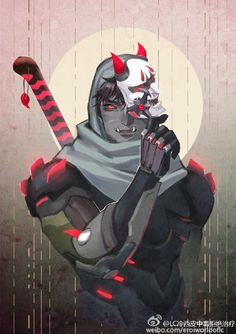 Oni Genji from Overwatch, this is super badass