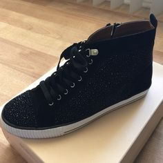 BCBG sneakers with studs Black suede sneakers with studs. Like new. Worn once in excellent condition. Box included BCBGeneration Shoes Sneakers