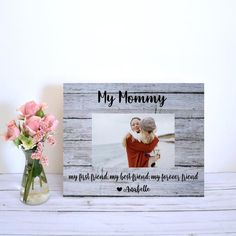Your place to buy and sell all things handmade Mothers Day Gifts From Daughter, Mother Day Gifts, Wood Picture Frames, Picture On Wood, Photo Link, See Photo, Creative Mother's Day Gifts, Personalized Picture Frames, Table Top Display