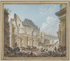 Pierre Antoine Demachy (French, 1723–1807). Demolition of the Old Vestibule of the Palais-Royal, Paris, ca. 1767. The Metropolitan Museum of Art, New York. Van Day Truex Fund, 1984 (1984.357)