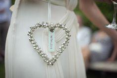 bride's heart good luck charm #heart #silver #wedding