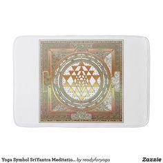 Shop Yoga Symbol SriYantra Meditation India Bath Mat created by readyforyoga. Mat Yoga, Yoga Symbols, Bring It To Me, Sri Yantra, Shops, Yoga Meditation, Chakra, Bath Mat, Poster
