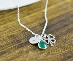4 Round Lucky Four Leaf Clover Necklaces ~ St Patricks Job Lots Wholesale UK