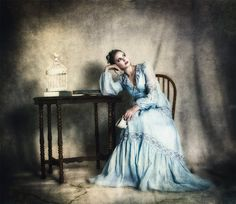 The Ennui of Tea is a vintage style photographic by SpokeninRed