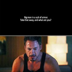 The entire inner conflict of Iron Man 3