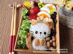 楽しくてお弁当とキャラベン: 簡単な猫ちゃんキャラベン Cat Bento