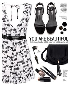 """""""B&W"""" by yexyka ❤ liked on Polyvore featuring Bobbi Brown Cosmetics and Lancôme"""