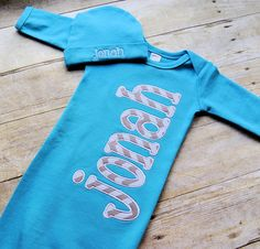 Custom personalized baby gown with or by SimplieGirlieDesigns