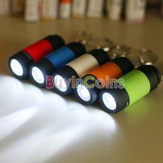 Portable Mini Pocket Keychain Torch USB Rechargeable LED Light Flashlight Lamp #Mini