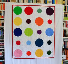 @Martha-Cate Spencer. circle quilt with different sized circles.