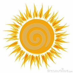 Abstract sun shape for your design by Kydriashka, via Dreamstime