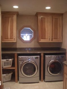 If I don't have room for the island in laundry room, maybe do a shelve system for clothes baskets