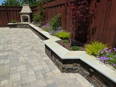 Image result for paver sitting wall planter