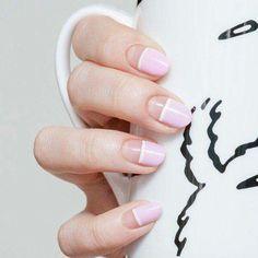 Geometric manicure.