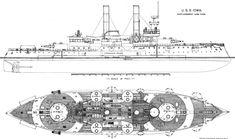 USS (BB-4) Battleship 1896