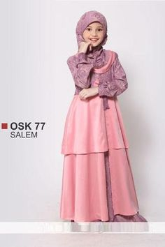 Baju Ethica Osk  Salem Size  Dress Pesta Dress Anak Kids Abaya