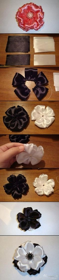 DIY Ribbon Flower