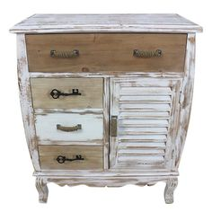 WOODEN DRAWER IN WHITE/BEIGE COLOR 68X36X83 - Drawers - Consoles - FURNITURE