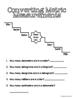 Worksheets 5th Grade Metric Conversion Worksheets grocery store to work and activities on pinterest