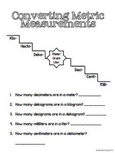 Grade 6 math worksheet - Measurement: convert metric volumes ...