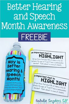 SLPs, help spread awareness of the profession and BHSM with this freebie from Natalie Snyders!