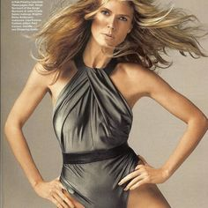 ⛱HP⛱ NWOT! Metallic one piece suit NWOT! Metallic one piece swimsuit with leather necklace.  High neck, low scoop back. As worn by Heidi Klum in Allure magazine (belt not included). Never worn, hygiene liner in place. Lenny Niemeyer Swim One Pieces