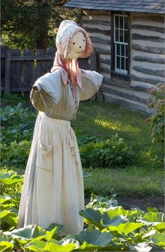 I am a female business owner~so of course I should have a female scarecrow out in my fields....
