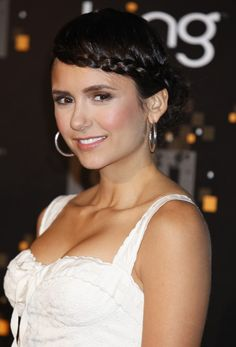 Nina Dobrev Sweet Braided Updo for Prom | Hairstyles Weekly