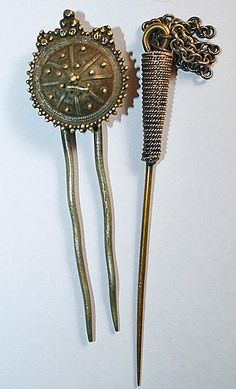 two old Tigray Hairpins, Ethiopia