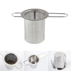 Tea Infuser, Stainless Steel Tea Infuser Steeper Strainer with Folding Handle for Loose Leaf Grain Tea Cups Mugs, Tea Strainer, Tea Infuser, Famous Brand Shoes, Loose Leaf Tea, Diffuser, Tea Cups, Stainless Steel, Canning, Mugs