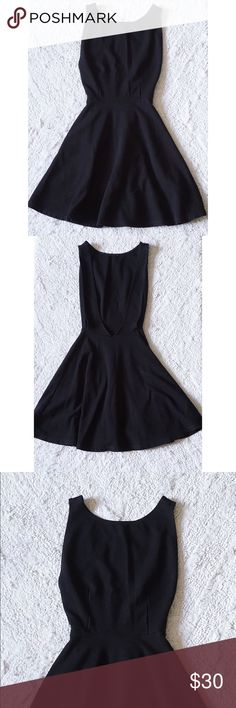 American Apparel Black Ponte Skater Dress XS Worn once. Very fitting/nice dress. Figure complimenting. All items can be discounted through site per request. Check my About for site. American Apparel Dresses Backless