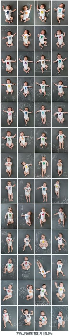 I wouldnt ever be able to think of this many creative things to do with chalk and a baby, but, if I could, I would.