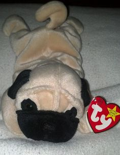 TY Beanie Babies Pugsly. My favorite! I still have him<3