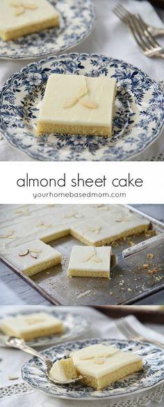 Almond Sheet Cake De