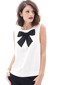 Bowknot Pattern Tank Top