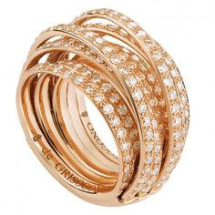 DE GRISOGONO 18ct Rose Gold & White Diamond Allegra Ring £13,800.00