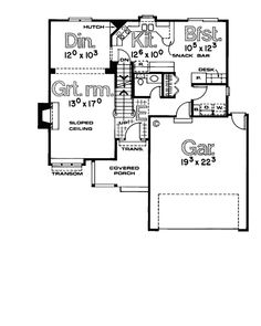 First Floor Plan of Country   House Plan 97902
