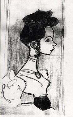 "Jane concept art, ""Tarzan""."