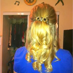 Perfect banquet hair. :)