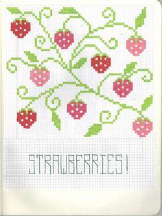 strawberry cross stitch