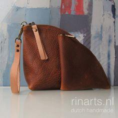 Kupplung / Leder Reißverschluss-Etui / Tasche Organizer von rinarts