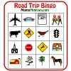 Printable Car Bingo Card Game.  Awesome idea for summer road trips.