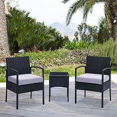 Rattan Patio Garden Furniture Sets Patio Furniture Set Clearance Sale Wicker White Cushioned Coffee Table   2 Chairs