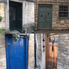 Can you find inspiration in these old doors of #thecotswolds #London ? Think cabinetry door door style, color inspiration or stone backsplash!