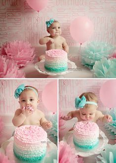 1 year old cake smash session. 1 year old cake smash session. Smash Cake Girl, 1st Birthday Cake Smash, Baby Girl 1st Birthday, Cake Smash Cakes, Cake Smash Photos, 1 Year Old Cake, 1st Year Cake, 1 Year Old Birthday Party, 1st Birthday Photoshoot