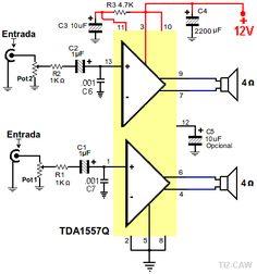 amplificador de sonido tda1557q