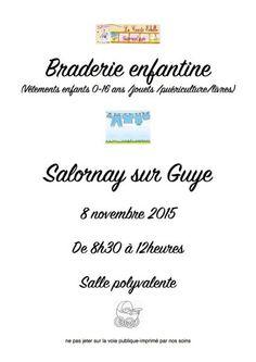 Braderie enfantine le 8 novembre 2015 à Salornay-sur-Guye.